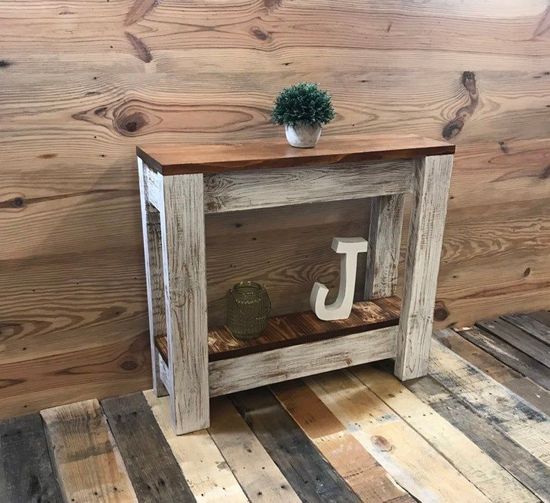 Small Accent Table, Skinny Table, Side Table, Narrow Entry
