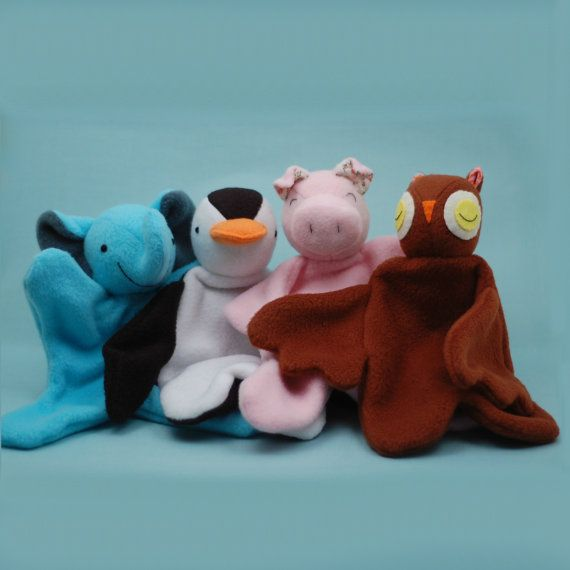 Lovey Dovey Elephant, Penguin, Pig, and Owl - PDF Sewing Pattern For ...