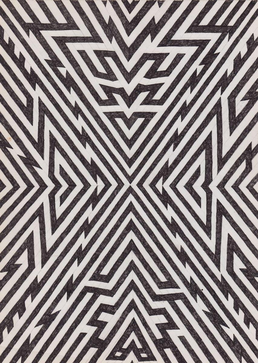 """expansion"". matthew craven. geometric. illustration. black and white. pattern. print. art."