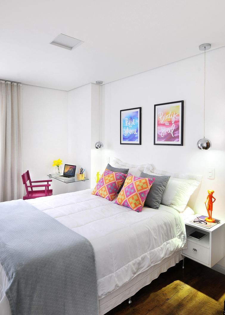 33 Ideias para decorar quartos pequenos  Decorando quartos pequenos, Quarto