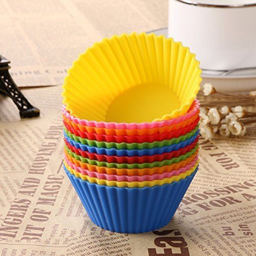 Ponys Rainbow Baking Cups Cake Molds Food Grade Silicone Set Of 12