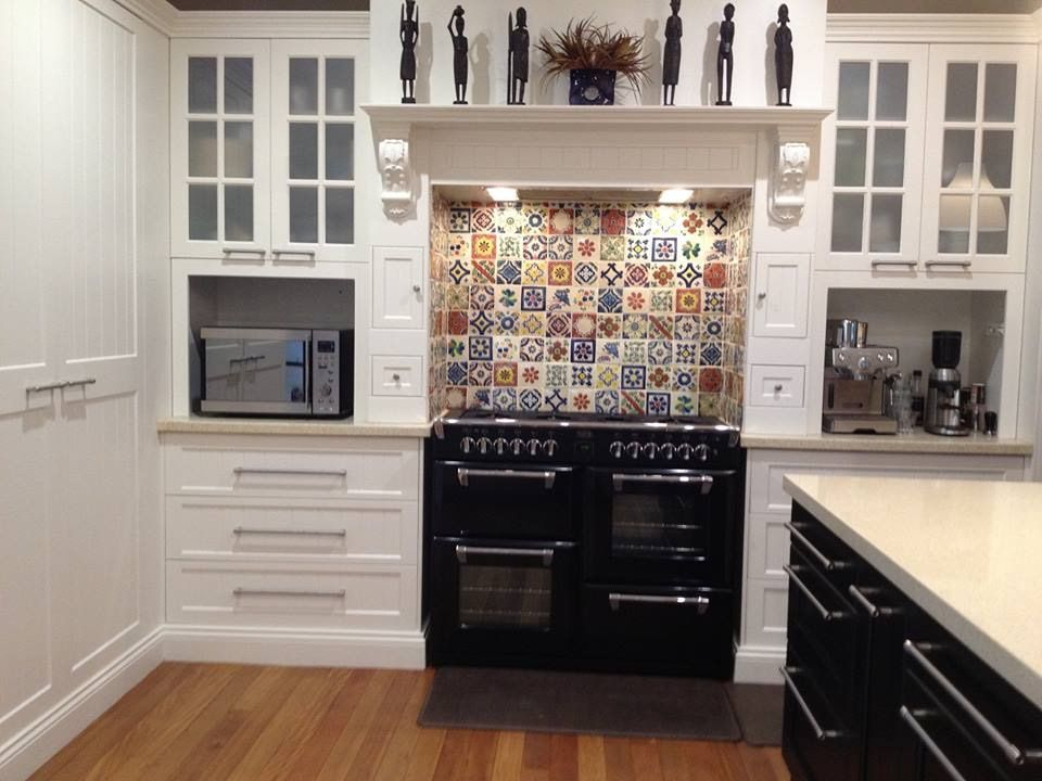 A great way to update your glass fronted cabinets is put ...