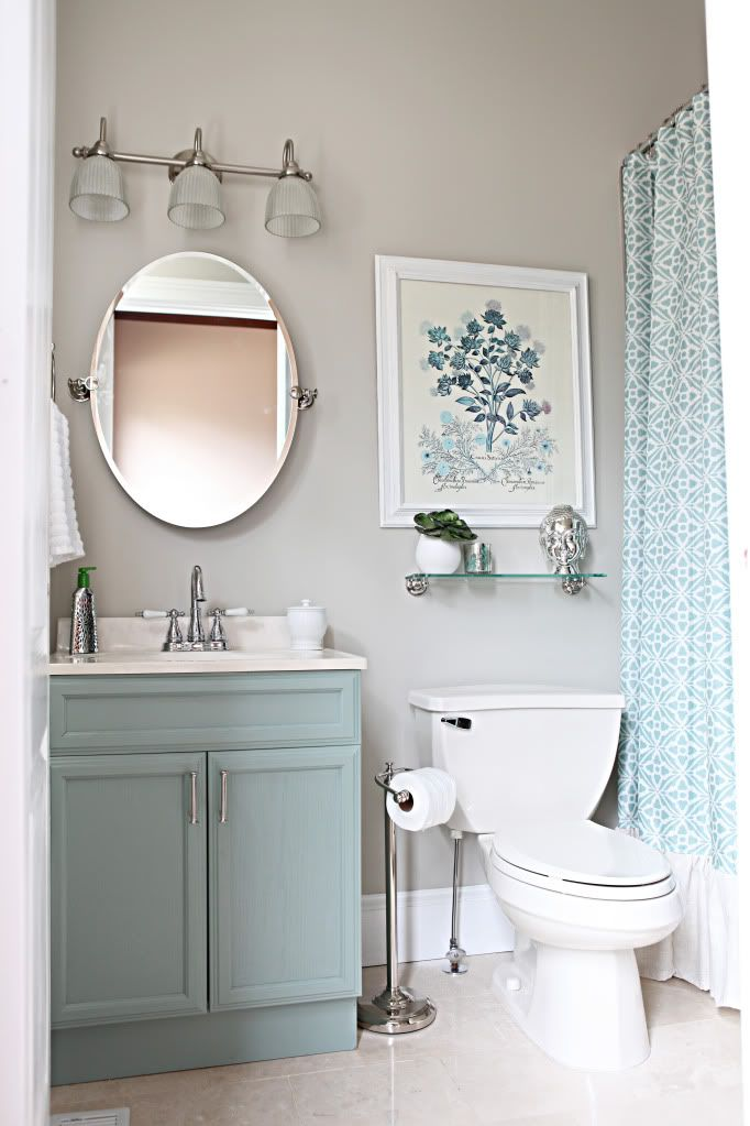 Office Bathroom Reveal Bower Power Small Bathroom Makeover