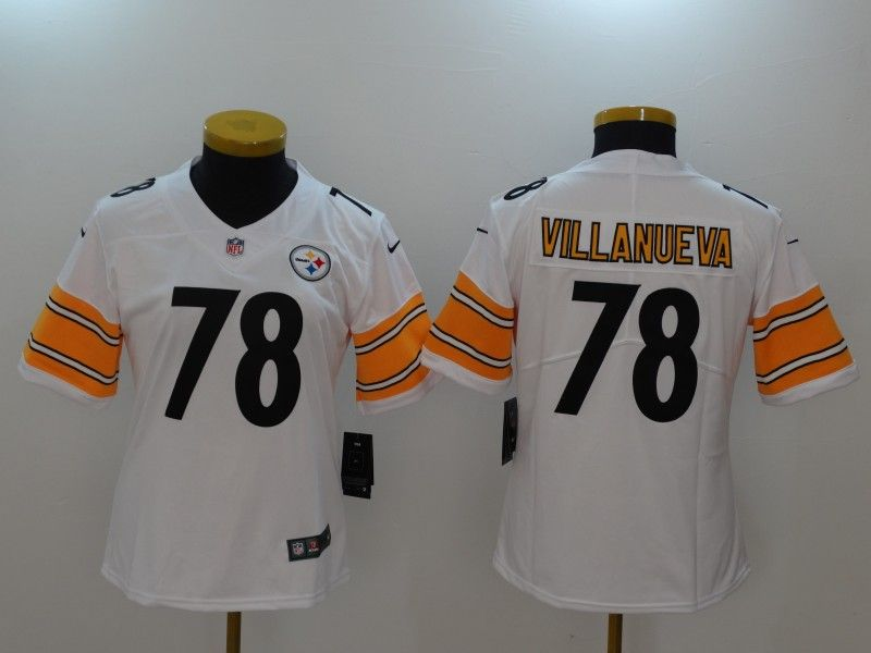 Women Pittsburgh Steelers 78 Villanueva White Nike Vapor Untouchable  Limited NFL Jerseys 9958e8f04