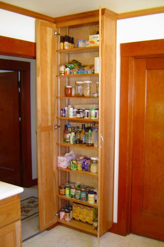 Oak pantry storage unit with 8 tier cabinet shelves organizer