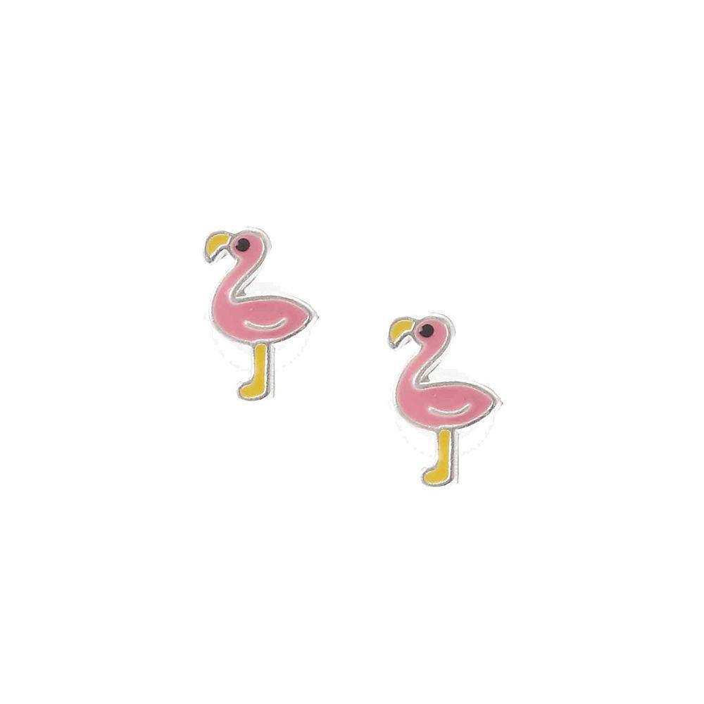 Sterling Silver Flamingo Earrings - Pink q71v7wIb8