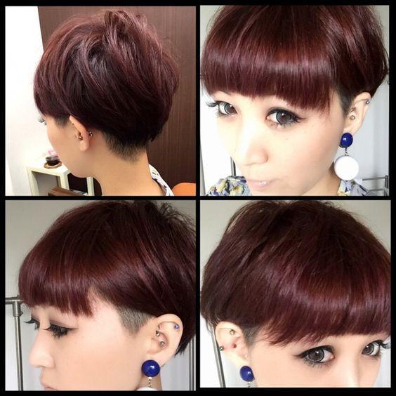 Pin Auf 短髮造型