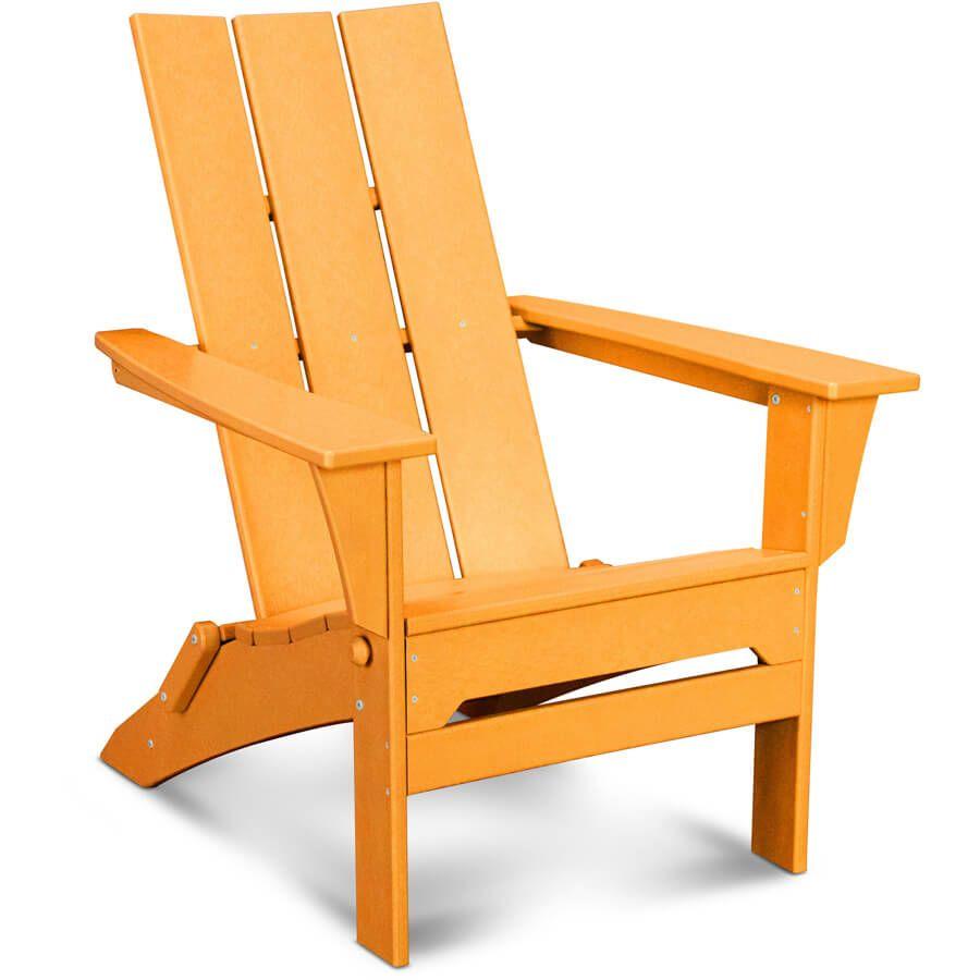 Lovely Polywood Modern Folding Adirondack Chair