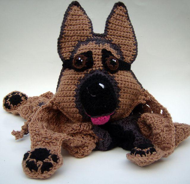 GSD: German Snuggly Dog pattern by Jenna Wingate   Vestidos para ...
