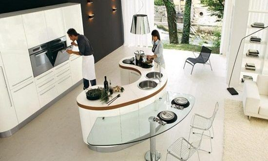 Amazing Modern Curved Kitchen Design Ideas Kitchen Design Open