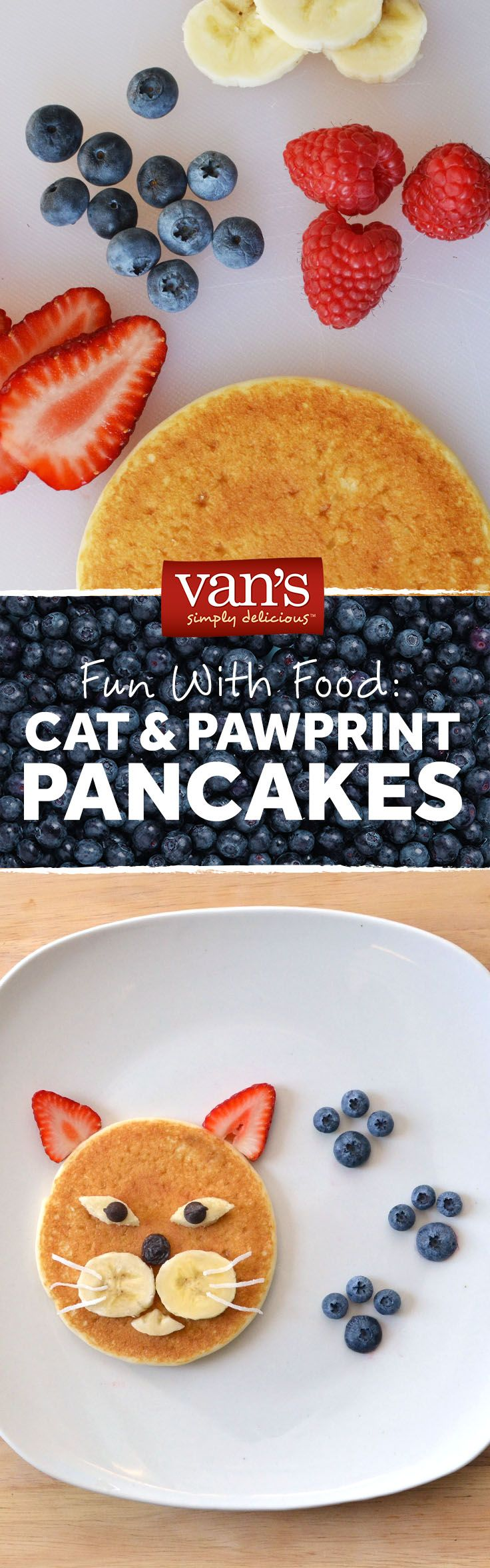 Because pancakes are the cat's meow! Make this fun