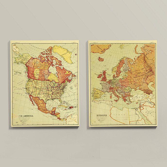 Suzanne Kasler Map Art | Ballard Designs | Art | Pinterest | Art decor