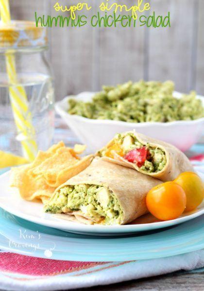 Super einfacher Hummus-Hühnchensalat – eine so einfache, leichte und gesunde Idee für das Mittagessen, p …   – category