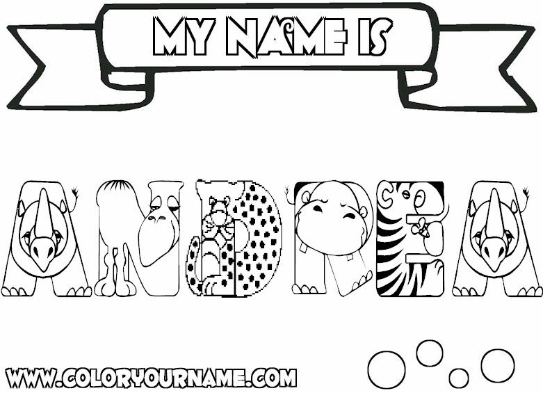 Andrea Coloring Page Andrea Pinterest