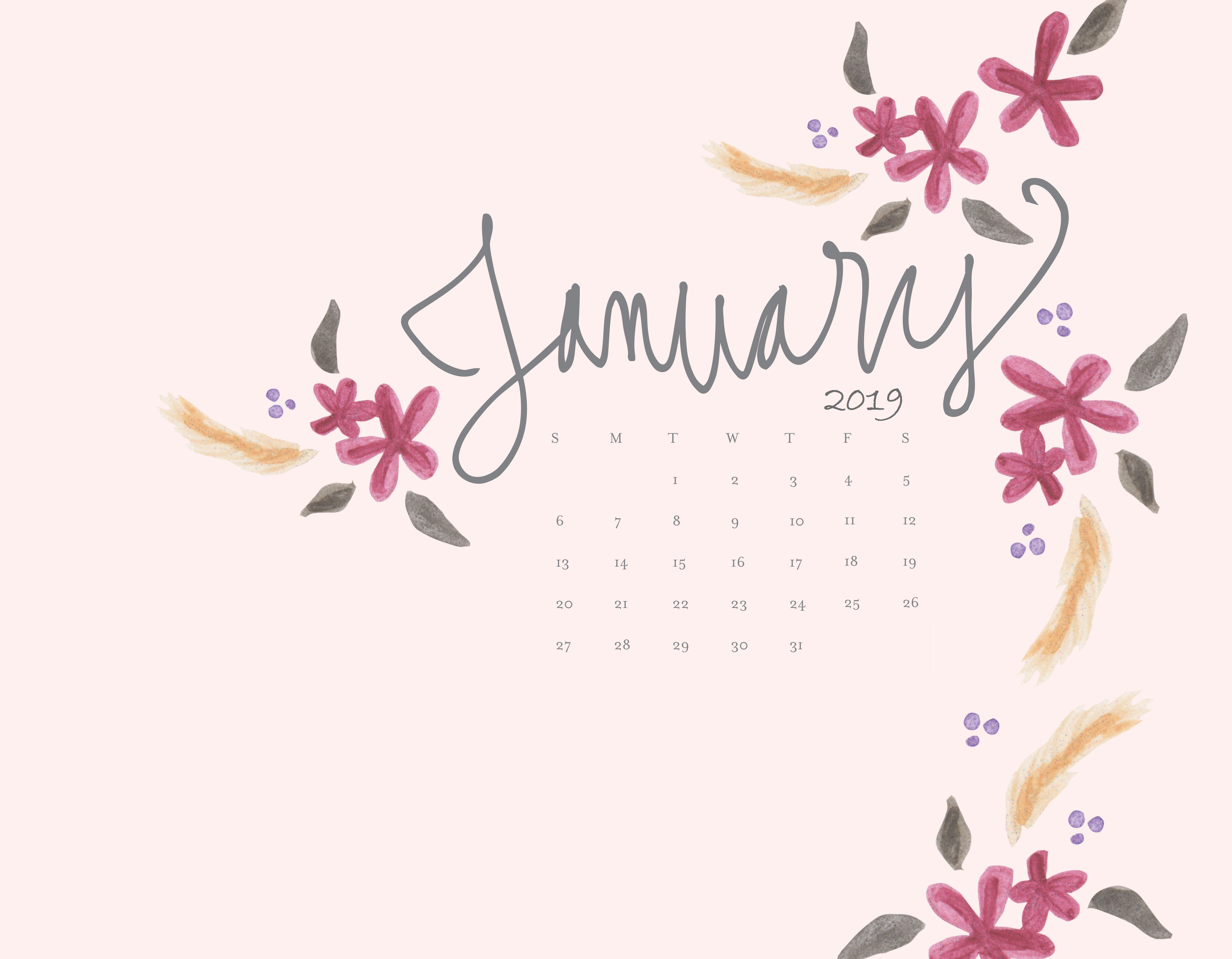 January 2019 Calendar Desktop Background january 2019 calendar wallpaper calendar 2018 January 2019 HD