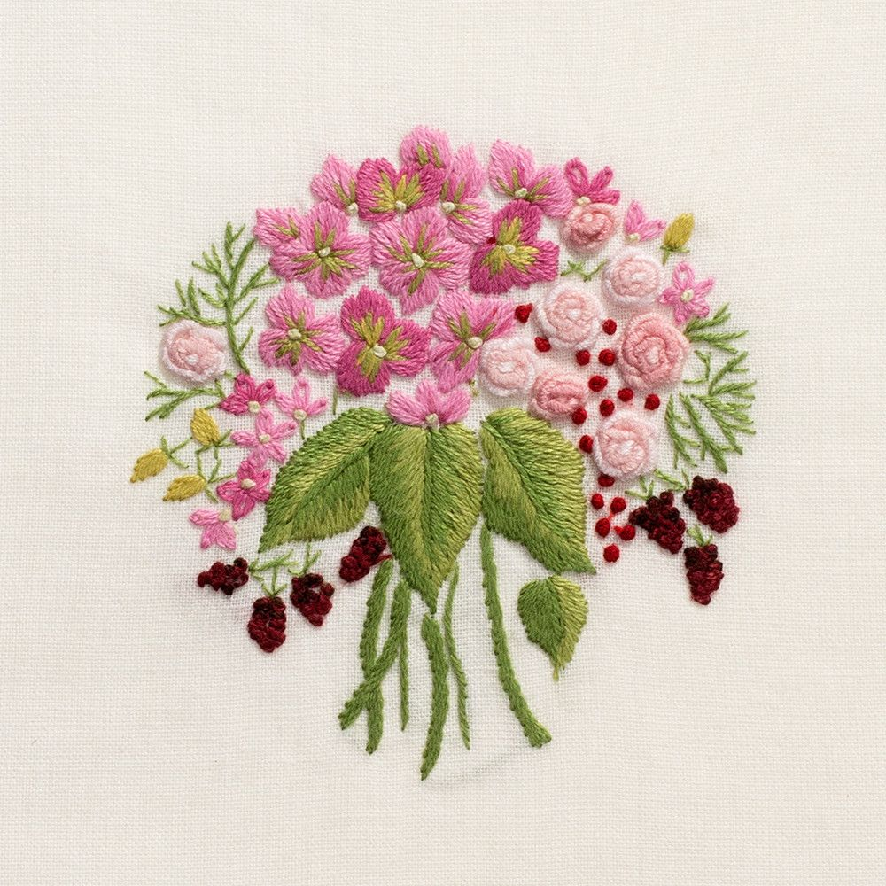 Bouquet Pink<br>Hand Towel - Ivory Cotton