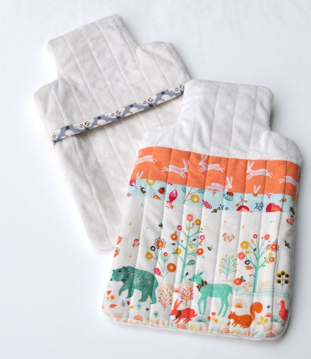 Hot Water Bottle Cover Tutorial And Free Pattern | Pinterest | Water ...