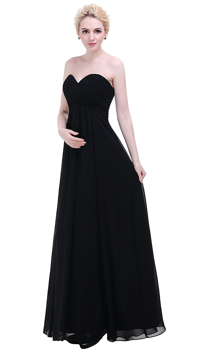 Esvor sweetheart chiffon party prom bridesmaid dress long evening