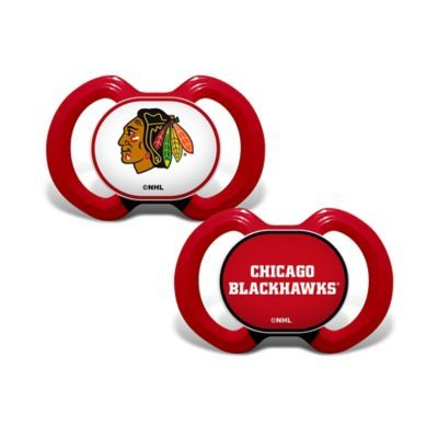 Nhl Baby Fanatic Chicago Blackhawks 2-Pack Pacifiers
