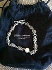 Michael Dawkins Pearl and Granulation Sterling Bracelet - bracelet, DAWKINS, GRANULATION, MICHAEL, Pearl, Sterling - http://designerjewelrygalleria.com/designer-jewelry-galleria/michael-dawkins-pearl-and-granulation-sterling-bracelet/