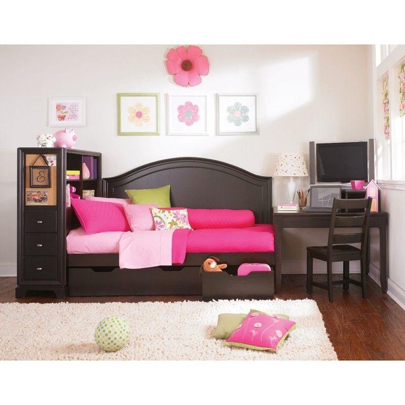 full size daybed with storage drawers foter bedroom teen girl pinterest full size. Black Bedroom Furniture Sets. Home Design Ideas