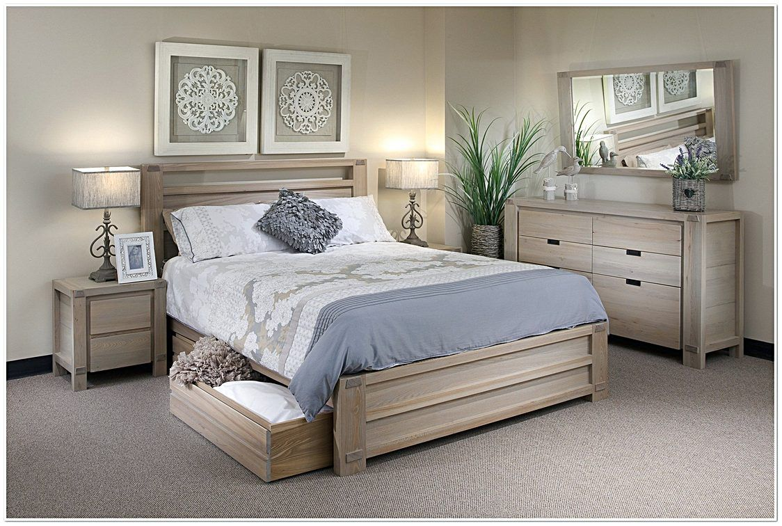 Whitewash Bedroom Set Dengan Gambar
