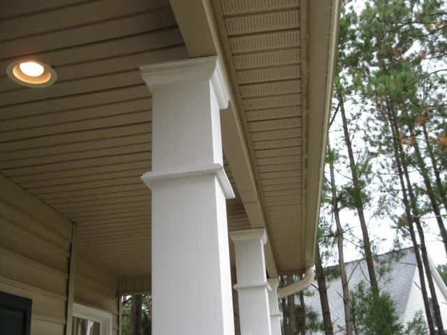 Raleigh Home Inspection Discovers Off Center Loading Of Porch Roof Beam Of A New Home Porch Columns Front Porch Columns Front Porch Pictures