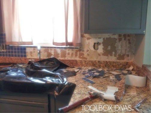 Tile Removal 101 Remove The Tile Backsplash Without Damaging The Drywall Tile Removal Tile Backsplash Remove