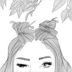 Art Noir Et Blanc Dessine Dessin Yeux Fille Grunge Drawings