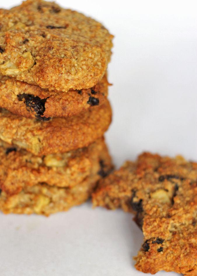 Apple, Cinnamon and Raisin Cookies – Vegan, Gluten Free