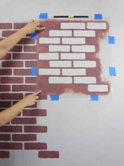 Learn How To Stencil The Brick Allover Pattern Fake