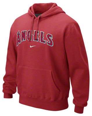82b61b40af79 Los Angeles Angels of Anaheim Red Nike Classic Pullover Hooded Sweatshirt