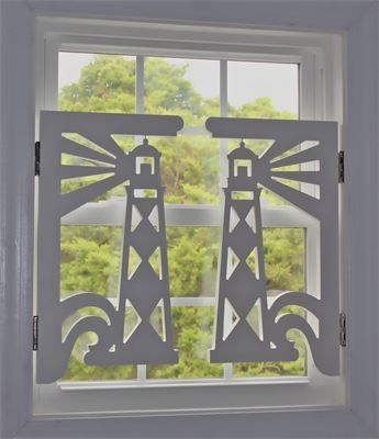 Cape Lookout Lighthouse Pvc Interior Shutters Top Quality Uv Inhibited Pvc 25x13 5 Great For Porch Ren Beach House Decor Beach Cottage Decor Beach Cottages