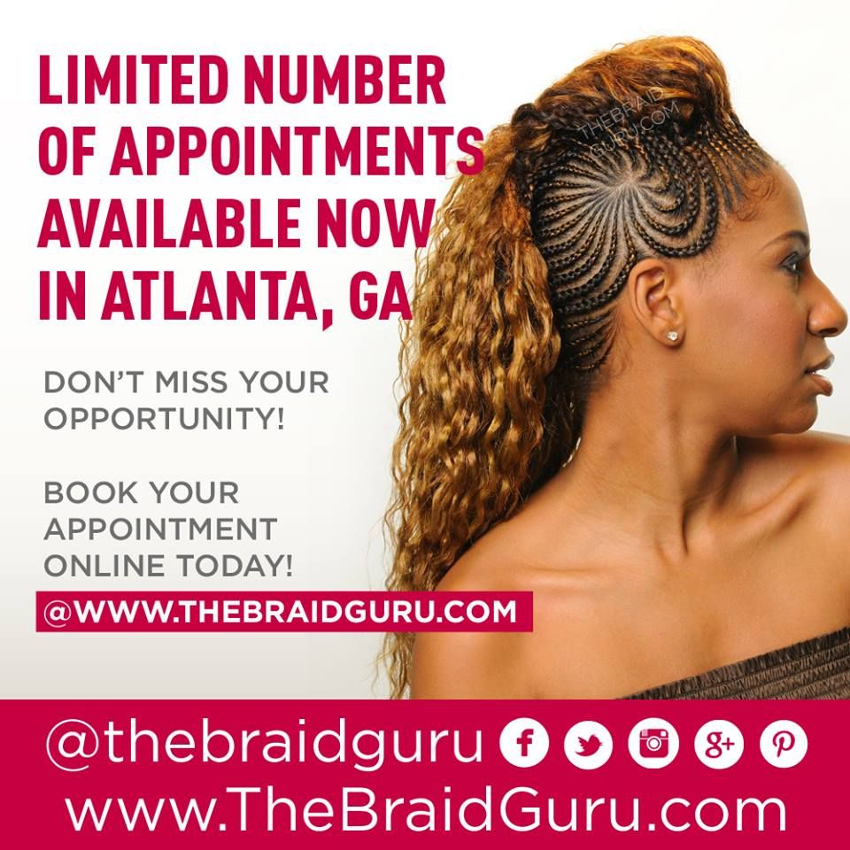 Limited of appointments available now in Atlanta, GA