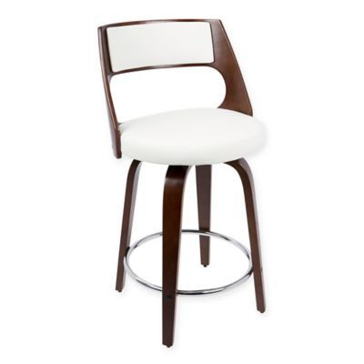 Lumisource Cecina Counter Stools In White Set Of 2 Modern