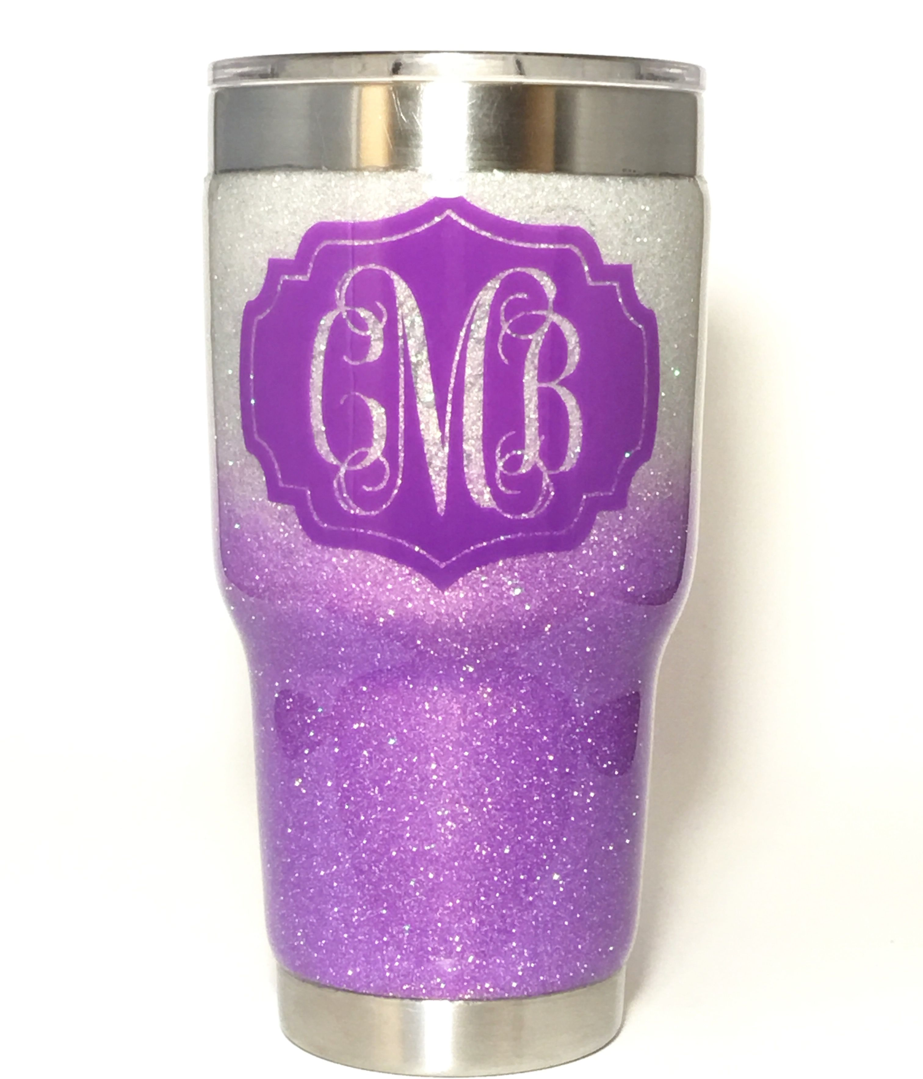 Snowflake And Fairy Dust Glittered 30 Oz Yeti With A