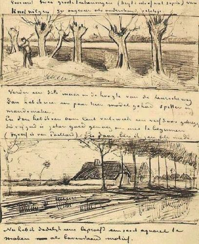 Road with Pollard Willows by Vincent van Gogh