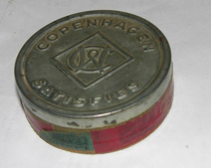 VINTAGE COPENHAGEN CHEWING TOBACCO EMPTY CAN CONTAINER