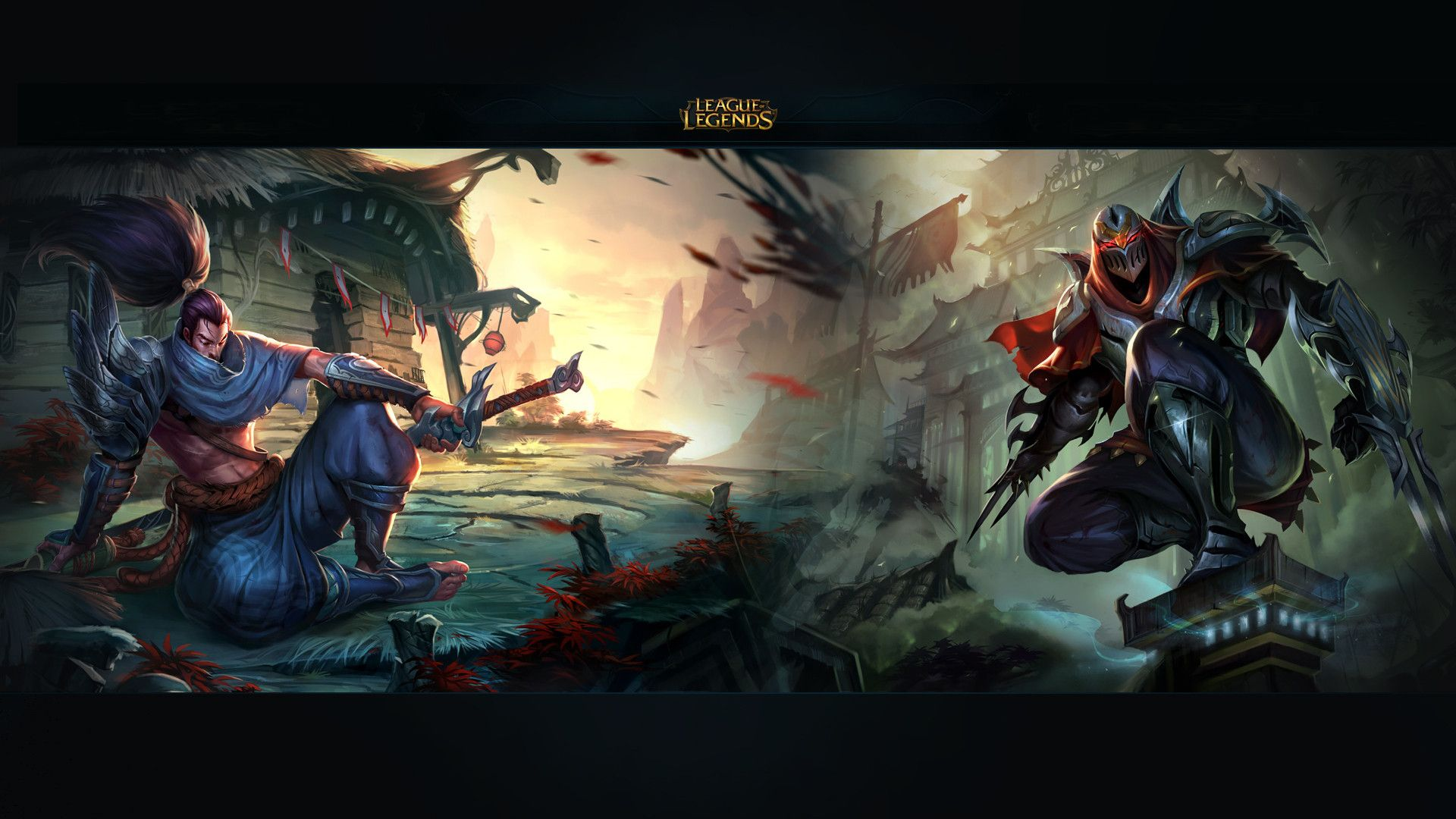 Yasuo vs Zed wallpaper