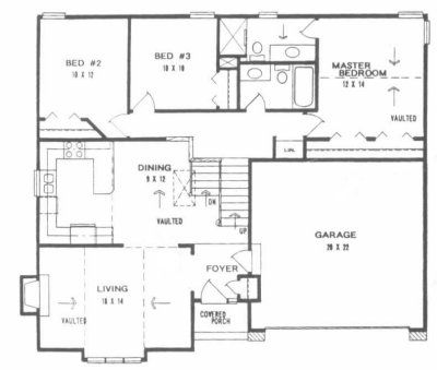 plan #1246 - front to back split level home | gerry cottage