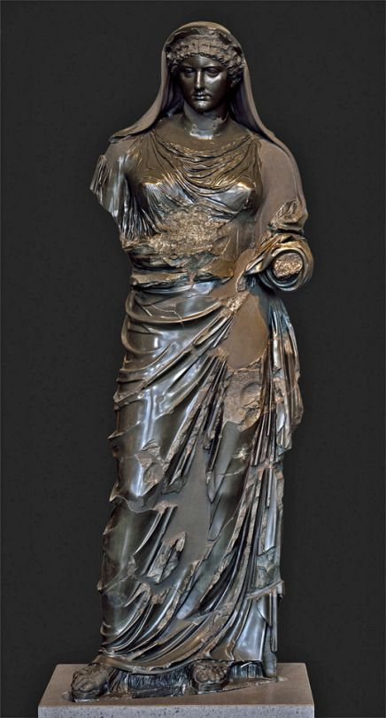 Statue of Agrippina. Date: A.D. 1st century Medium: Basanite Povenance: Rome, Capitoline Museums, Museum Montemartini (Centrale Montemartini), II. 44
