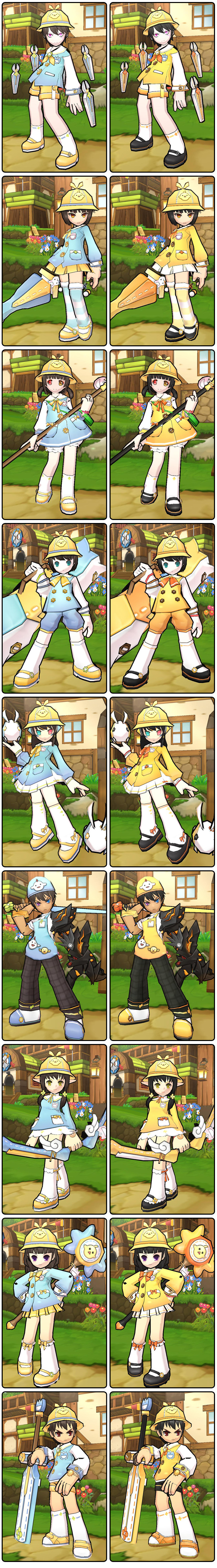 Elrios Kindergarten has released the new uniforms. Youngsters, get yours in the Elsword Item Mall!