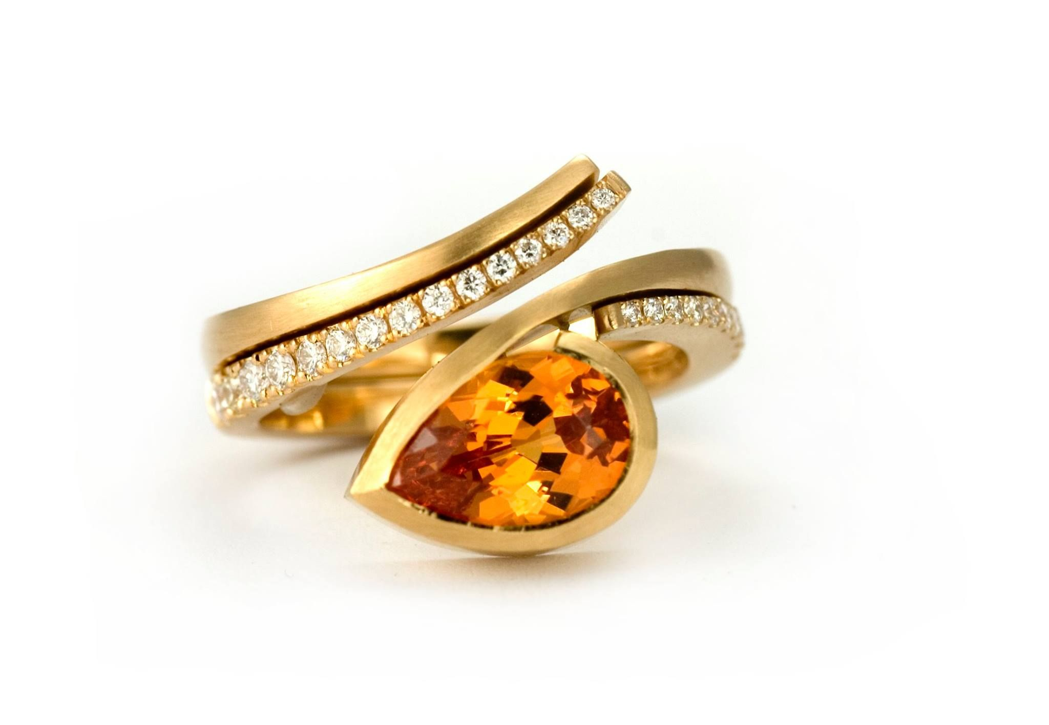jewellery ring harris rings shopify gold cocktail front amber citrine engagement melissa cut cushion products