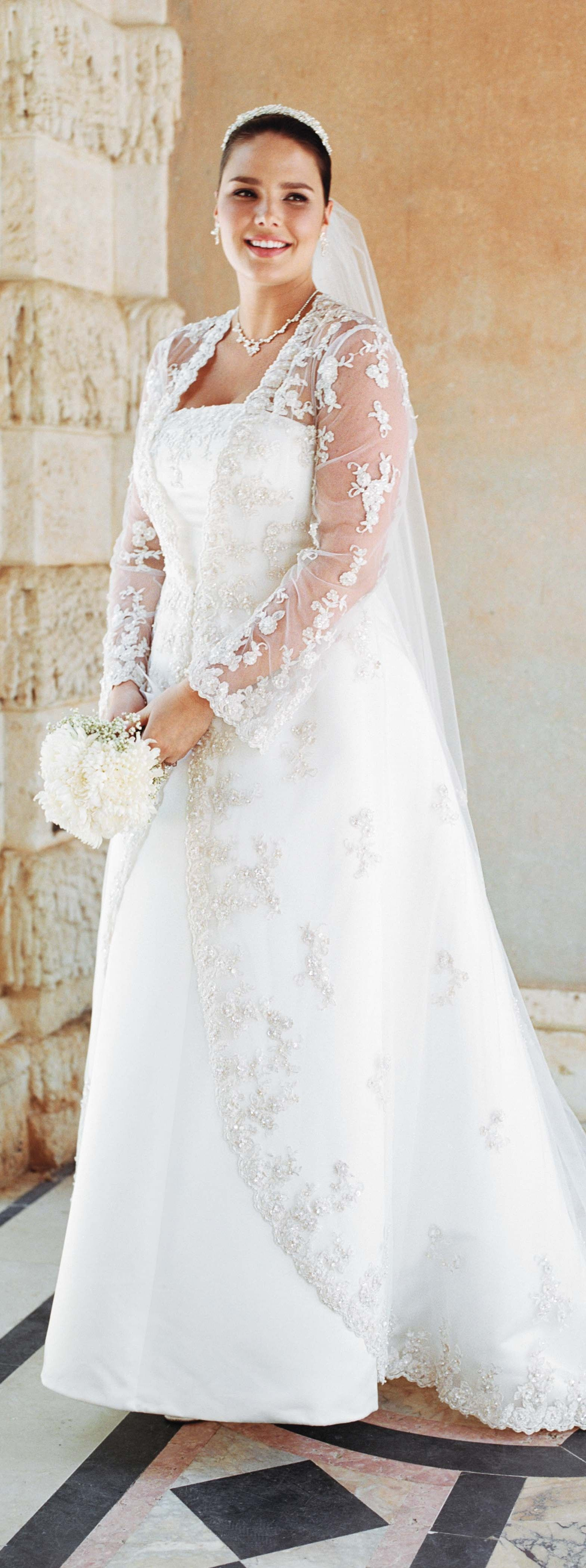 Wedding dress with sleeves from David's Bridal   Article about ...