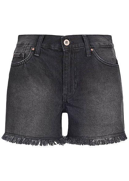Online-Shop Vereinigte Staaten zarte Farben ONLY Damen Jeans Short 5-Pockets Regular Waist NOOS schwarz ...