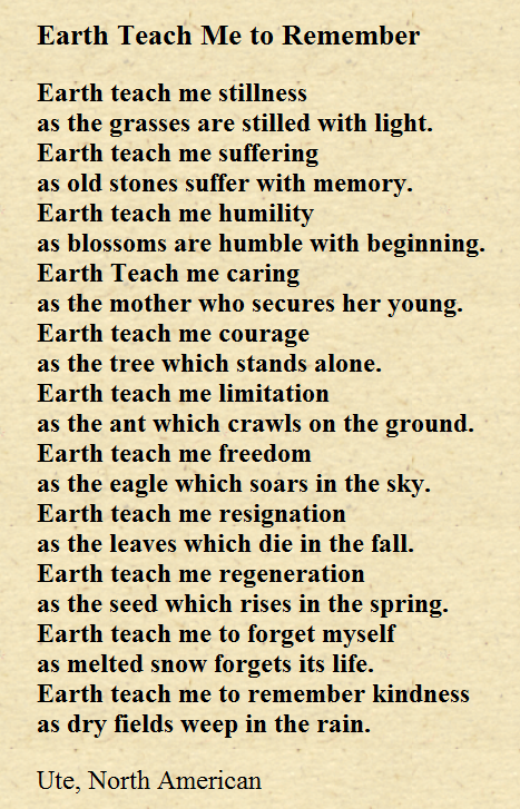 Ute Prayer - Let us give gratitude for Mother Earth and fill her