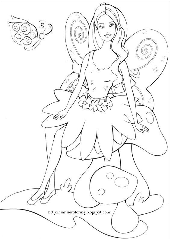 FAIRY COLORING PAGES BARBIE AS A