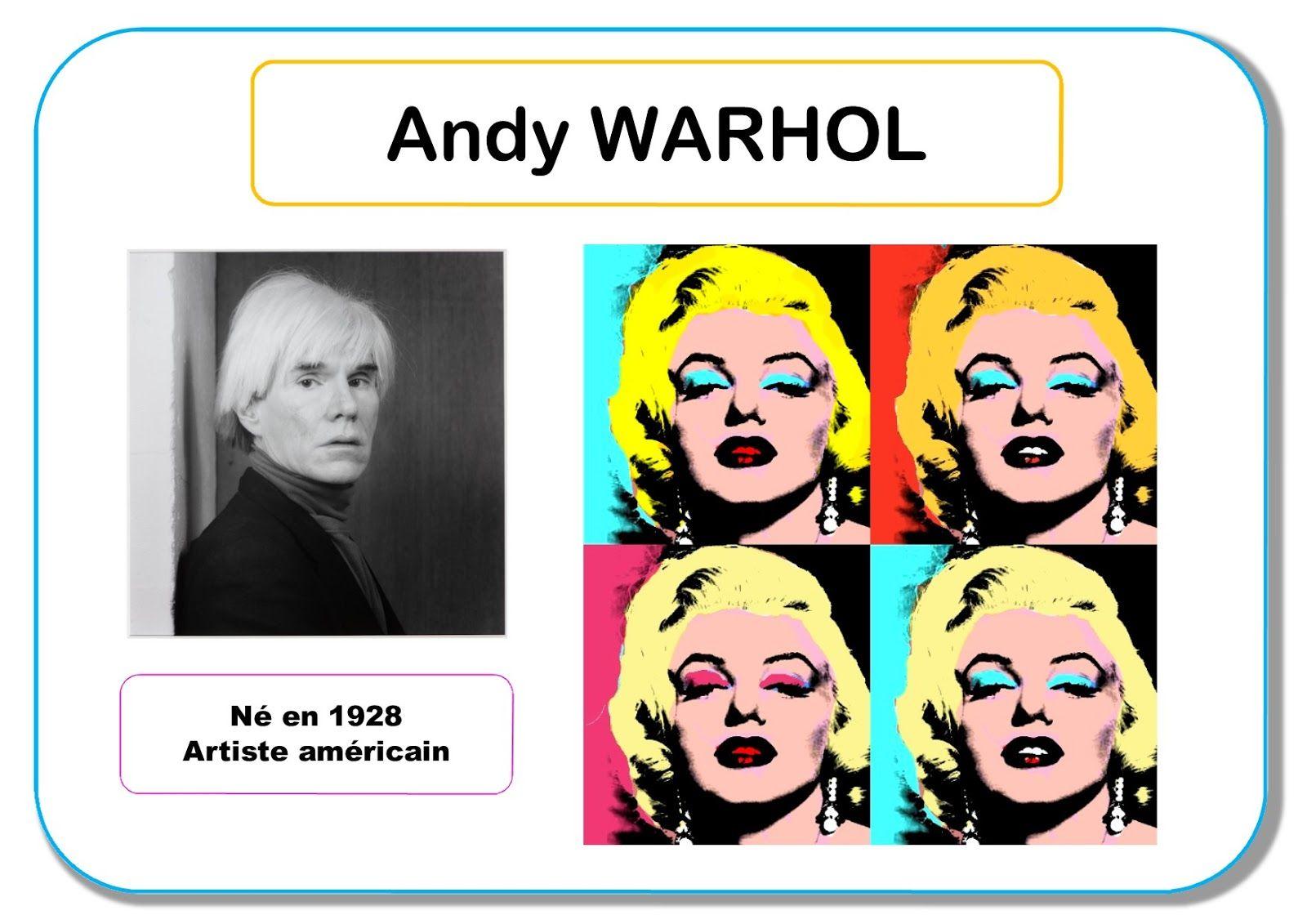 Andy Warhol Portrait d artiste