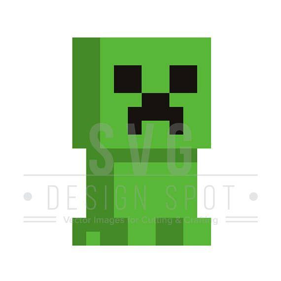Minecraft Inspired Creeper Skeleton Svg Wall Poster Shirt
