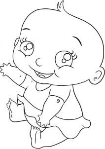How To Draw A Baby Girl How To Draw Cartoon Girl Drawing